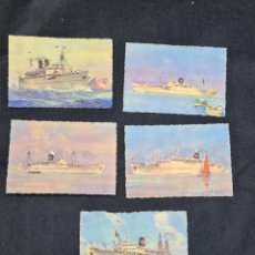 Cartoline: LOTE DE 5 POSTALES BARCO LINEA KOUTOUBIA, LYAUTEY, AZEMMOUR, AZROU Y DDJENNE. Lote 260802185