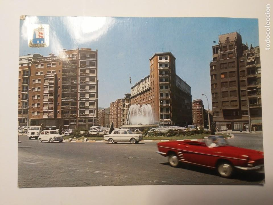 POSTAL BILBAO PLAZA DE ZABALBURU ARQUITECTURA ESPAÑA AÑOS 70 EDIFICIOS (Postales - Varios)