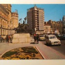 Cartoline: POSTAL VALLADOLID MONUMENTO HÉROES ALCÁNTARA PLAZA DE ZORRILLA ARQUITECTURA ESPAÑA AÑOS 70 EDIFICIOS. Lote 261349015
