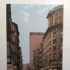 Postales: POSTAL BILBAO BUENOS AIRES BANCO DE VIZCAYA ARQUITECTURA ESPAÑA AÑOS 70 EDIFICIOS COCHES. Lote 263172540