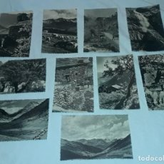 Postales: BELLO LOTE DE 10 ANTIGUAS POSTALES DE ANDORRA CASCADA DE MOLES, MAS DE RIBAFETA ENTRE OTRAS. Lote 264828784