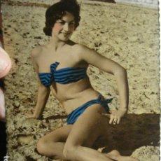 Postales: PRECIOSA POSTAL SEÑORITA EN BIKINI - AÑOS 1950. Lote 265393029