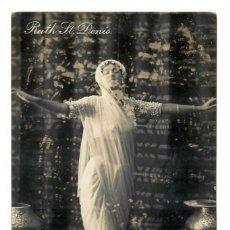 Postales: RUTH SAINT DENIS (BAILARINA) - CIRCULADA EN 1908 - SELLO DE ARGENTINA. Lote 265857409