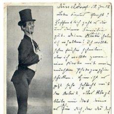 Postales: MAX ARRAS (COMEDIANTE) - CIRCULADA EN 1903 - FIRMADA POR EL ARTISTA. Lote 266168938