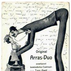 Postales: ARRAS-DUO / MAX ARRAS (COMEDIANTE) - CIRCULADA EN 1907 - FIRMADA POR EL ARTISTA. Lote 266169003