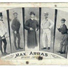 Postales: MAX ARRAS (COMEDIANTE) - CIRCULADA - FIRMADA POR EL ARTISTA. Lote 266169348