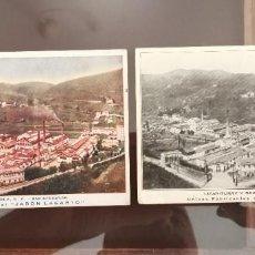 Cartoline: DOS POSTALES DE LA FÁBRICA DEL JABÓN LAGARTO. Lote 267292154