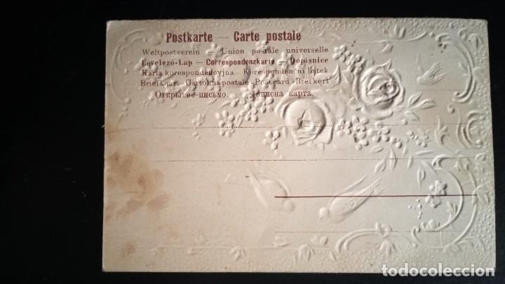 Postales: PRECIOSA Y ANTIGUA POSTAL FLORES Y PÁJAROS - sin circular - Foto 2 - 267545704