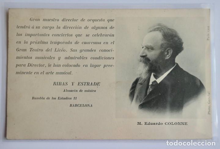 POSTAL - M. EDUARDO COLONNE - ALMACEN DE MUSICA RIBAS Y ESTRADE (Postales - Varios)