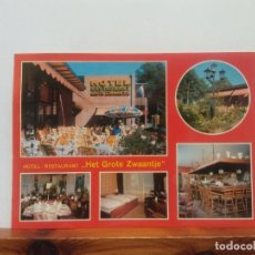 Postales: HOTEL RESTAURANT HET GROTE ZWAANTJE. BONITA POSTAL. CIRCULADA. Lote 269093793