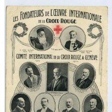 Postales: POSTAL 1914 FUNDADORES CRUZ ROJA SIN CIRCULAR.. Lote 269213888