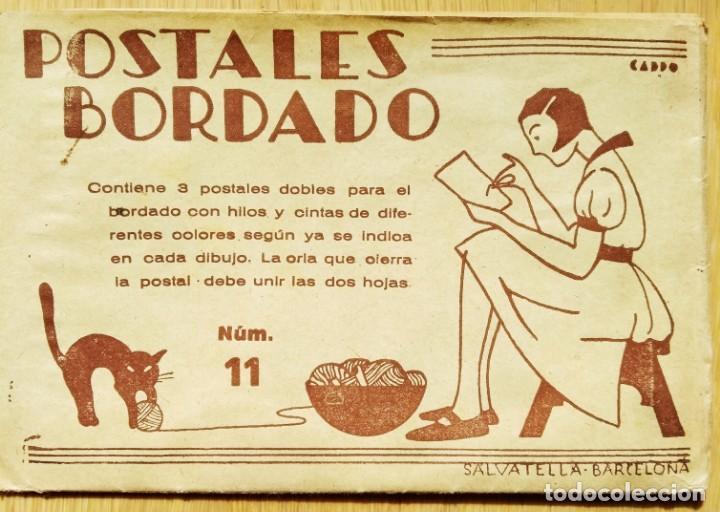 POSTALES BORDADO - SOBRE MÁS DOS POSTALES PARA BORDAR (Postales - Varios)