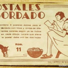 Postales: POSTALES BORDADO - SOBRE MÁS DOS POSTALES PARA BORDAR. Lote 269215843