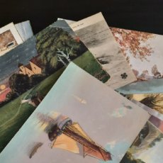 Postales: LOTE 29 POSTALES ANTIGUAS BARCOS, MAR Y NATURALEZA. Lote 269252648