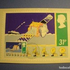 Postales: GRAN BRETAÑA 1985 - TM - SATELITE ARTIFICIAL - PRIMERA EMISIÓN FILATÉLICA BRITÁNICA - EDIMBUIRGO.. Lote 270377573