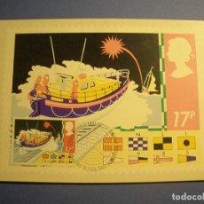 Postales: GRAN BRETAÑA 1985 - TM - BARCO RESCATE - PRIMERA EMISIÓN FILATÉLICA BRITÁNICA - EDIMBUIRGO.. Lote 270378278