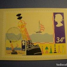 Postales: GRAN BRETAÑA 1985 - TM - BOYA - PRIMERA EMISIÓN FILATÉLICA BRITÁNICA - EDIMBUIRGO.. Lote 270378523