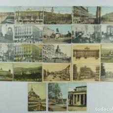 Cartoline: COLECCION LOTE DE 23 ANTIGUAS TARJETAS POSTALES DE MADRID. Lote 275795768