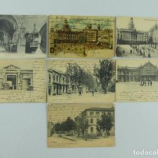 Cartoline: COLECCION LOTE DE 7 ANTIGUAS TARJETAS POSTALES DE CIUDADES ESPAÑOLAS. Lote 275795853