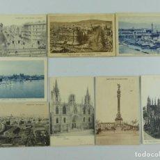Cartoline: COLECCION LOTE DE 8 ANTIGUAS TARJETAS POSTALES DE BARCELONA. Lote 275795913
