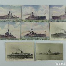 Cartoline: COLECCION LOTE DE 8 ANTIGUAS TARJETAS POSTALES Y FOTOS DE BARCOS. Lote 275795933