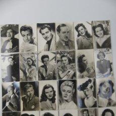Cartoline: COLECCION LOTE DE 24 TARJETAS POSTALES DE ACTORES Y CANTANTES. Lote 275844038