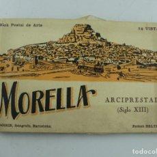 Cartoline: BLOQUE -POSTAL DE ARTE MORELLA ARCIPRESTAL - FALTA UNO. Lote 275844553