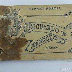 Cartoline: BLOQUE -POSTALES RECUERDO DE ZARAGOZA - FALTAN CINCO. Lote 275844693