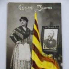 Cartoline: POSTAL FOTOGRAFICA CATALANS ILUSTRES FOTO RABASSA CIRCULADA. Lote 275844898