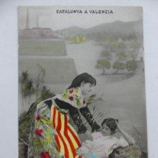 Cartoline: POSTAL FOTOGRAFICA CATALUNYA A VALENCIA MATEOS 1907 CIRCULADA. Lote 275845093