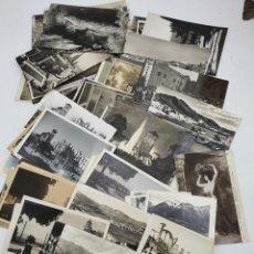 Postales: LOTES POSTALES ANTIGUAS EN NEGRO Y BLANCO, 85 POSTALES ( VER FOTOS ). Lote 276534688