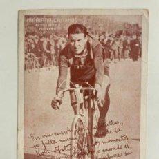 Postales: REPRODUCCION ANTIGUA POSTAL DE MARIANO CAÑARDO - CICLISTA. MIDE UNOS 14X10CM.. Lote 276540818