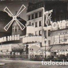 Postales: FRANCIA & CIRCULADO, EL MOULIN ROUGE DE NOCHE, LISBOA 1957 (108). Lote 277223273