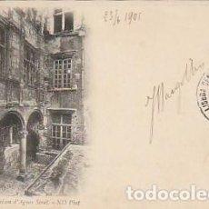 Postales: FRANCIA & CIRCULADO, LA CASA DE AGNES SOREL, LISBOA 1901 (8). Lote 277226568