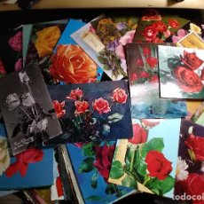Postales: 90 POSTALES * ROSAS * DIFERENTES. Lote 277585633