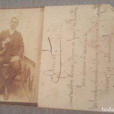 Postales: POSTAL CON FOTOGRAFÍA DE FEDERICO BLARDONY CON POEMA MANUSCRITO Y FIRMADO Y FECHA 16-A-07. Lote 277619603