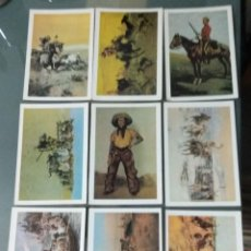 Postales: LOTE DE 9 POSTALES . HISTORIA DEL OESTE.. Lote 277652253