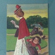 Postales: POSTAL COMICA EN RELIEVE 1909.. Lote 278290623