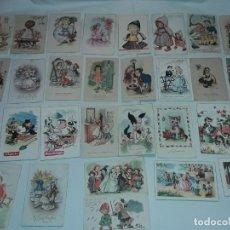 Postales: LOTE DE 30 ANTIGUAS POSTALES AÑOS 40/50/60 SIGLO XX. Lote 278956453