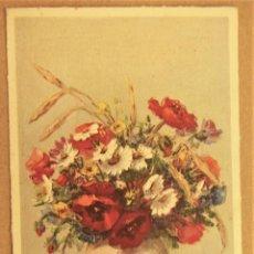 Postales: POSTAL JARRON CON FLORES SIN ESCRIBIR. Lote 278960193