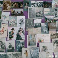 Postales: LOTE DE 45 CARTAS POSTALES ANTIGUAS! VER FOTOS. Lote 280664523