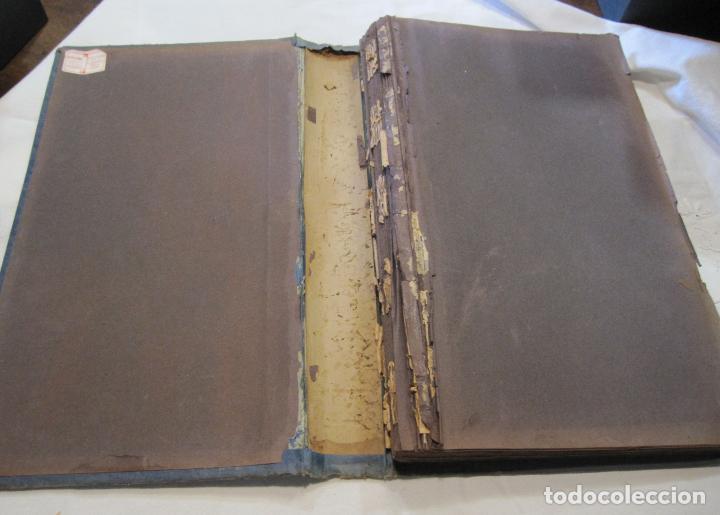 Postales: ALBUM MODERNISTA PARA POSTALES, VACIO, HACIA 1900. PAISAJE EN RELIEVE. CUBIERTAS EN TELA. 40X24X4 CM - Foto 7 - 280915318