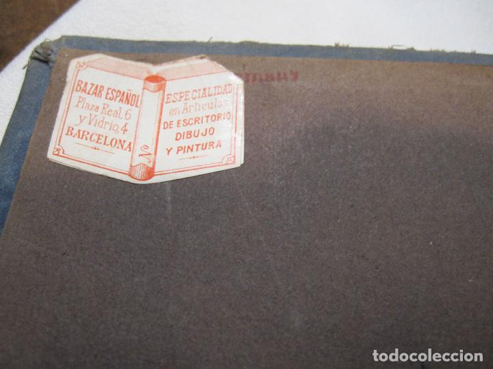 Postales: ALBUM MODERNISTA PARA POSTALES, VACIO, HACIA 1900. PAISAJE EN RELIEVE. CUBIERTAS EN TELA. 40X24X4 CM - Foto 8 - 280915318