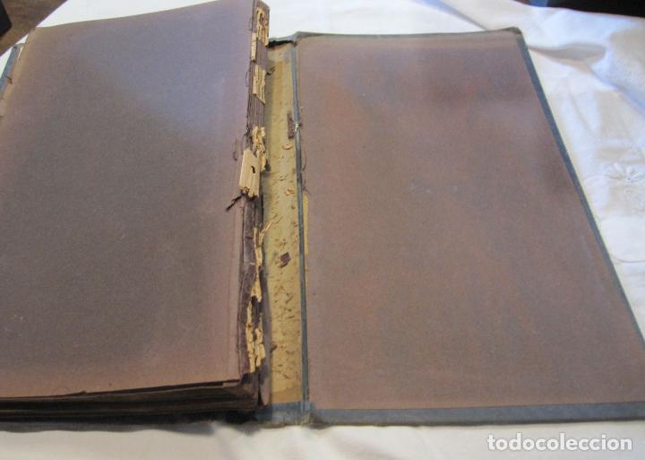 Postales: ALBUM MODERNISTA PARA POSTALES, VACIO, HACIA 1900. PAISAJE EN RELIEVE. CUBIERTAS EN TELA. 40X24X4 CM - Foto 9 - 280915318