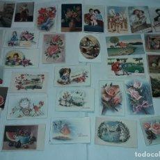 Postales: LOTE DE 30 ANTIGUAS POSTALES DIFERENTES TEMÁTICA AÑOS 40/50 SIGLO XX. Lote 285567378