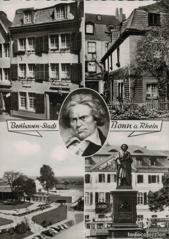 BEETHOVEN-STADT. BONN A. RHEIN. ECHT FOTO (Postales - Varios)