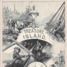 Postales: TREASURE ISLAND. F. MOLLER. FRONTISPICIO DE LA 1ª EDICIÓN DE LA ISLA DEL TESORO DE R. L. STEVENSON. Lote 288099568