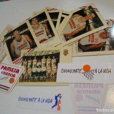 Postales: LOTE PAMESA VALENCIA POSTALES PEGATINAS ENTRADAS Y MAS......... Lote 289840843