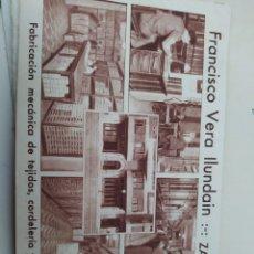 Cartoline: TARJETA POSTAL PUBLICITARIA FRANCISCO VERA Y HYUNDAI ZARAGOZA FÁBRICA MECÁNICA DE TEJIDOS. Lote 293803623