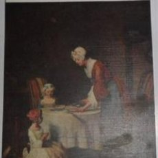 Postales: ANTIGUA TARJETA POSTAL 1948 LOUVRE LAPINA PARIS CHARDIN. Lote 294261178